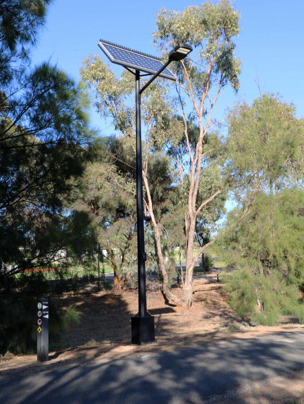 solar street light installed Lake Albert Wagga Wagga