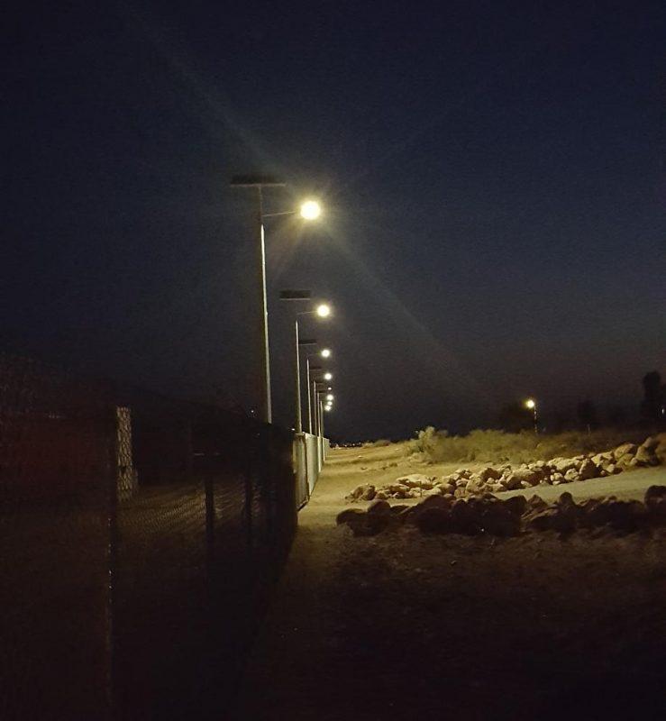Solar lights installed at OMSB » Green Frog Systems