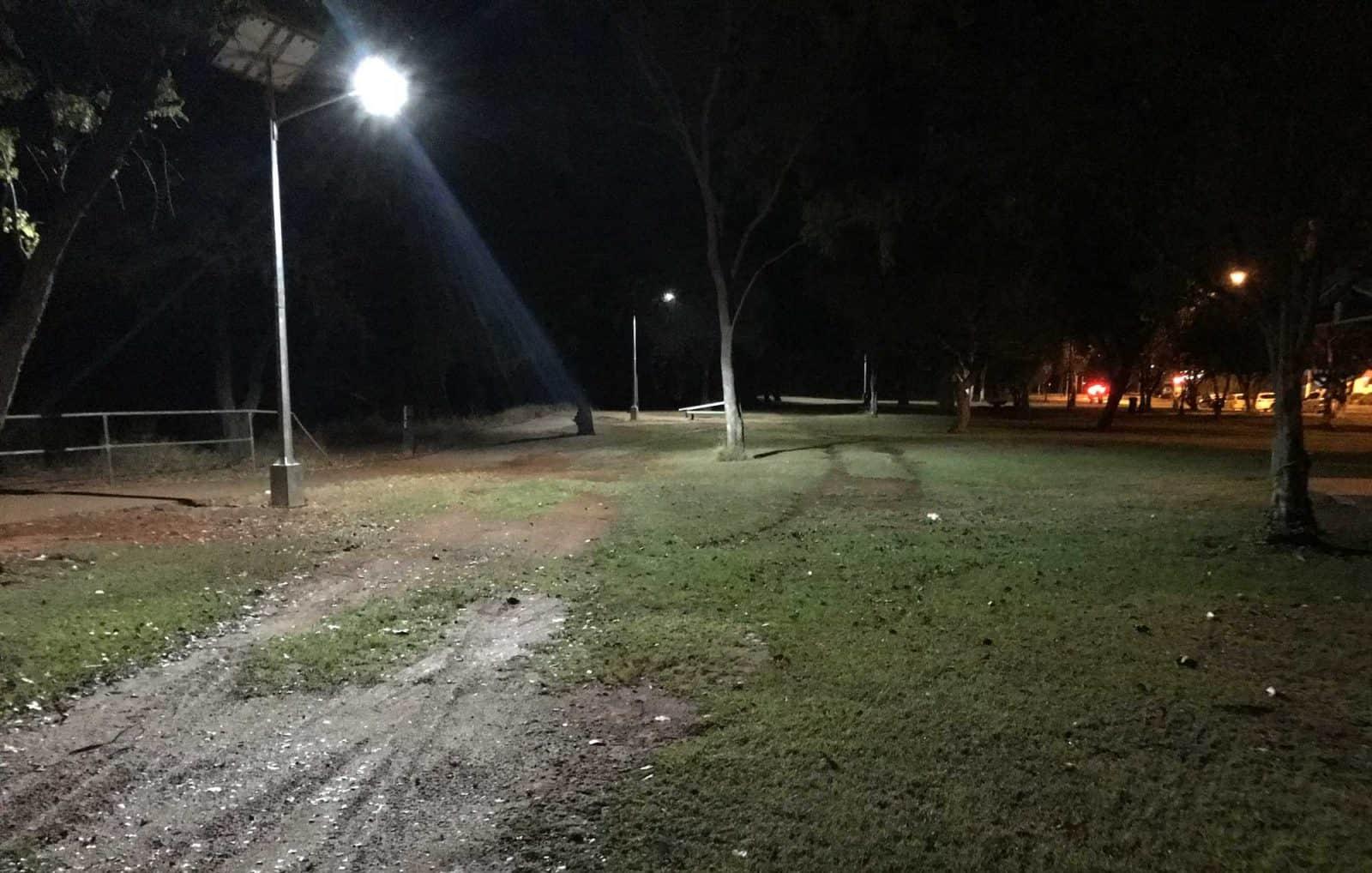 solar street light in Katherine Parklands