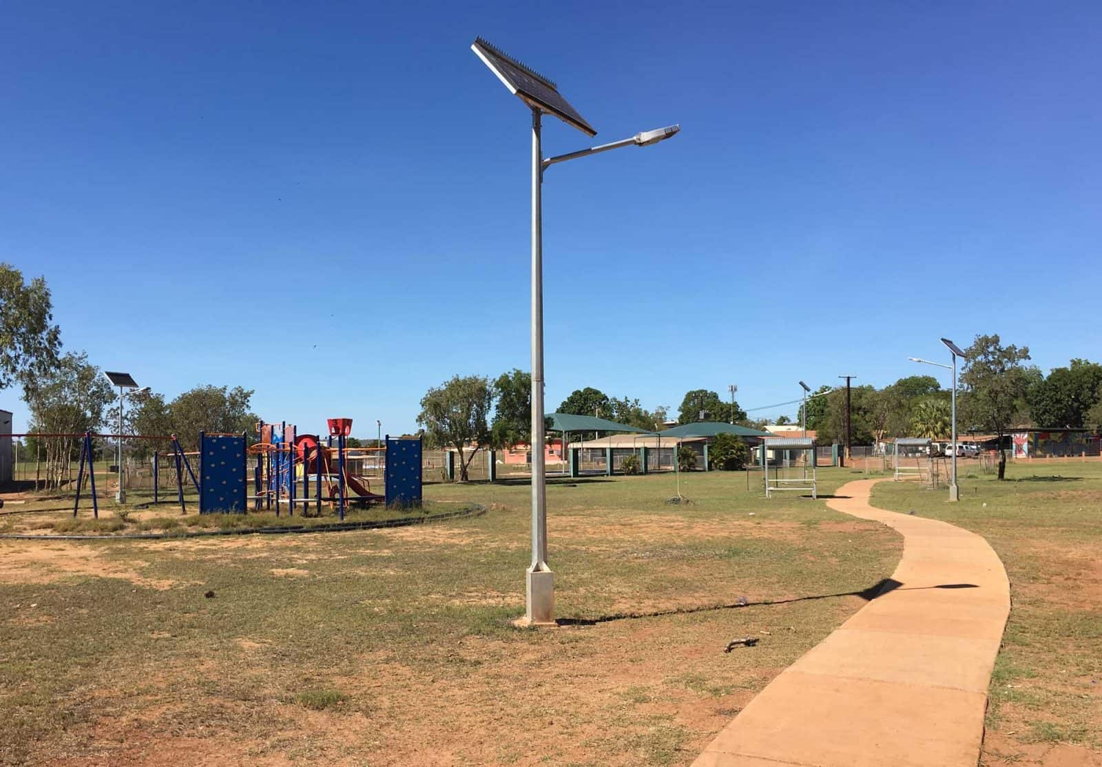 solar street and park lighting ngukurr NT
