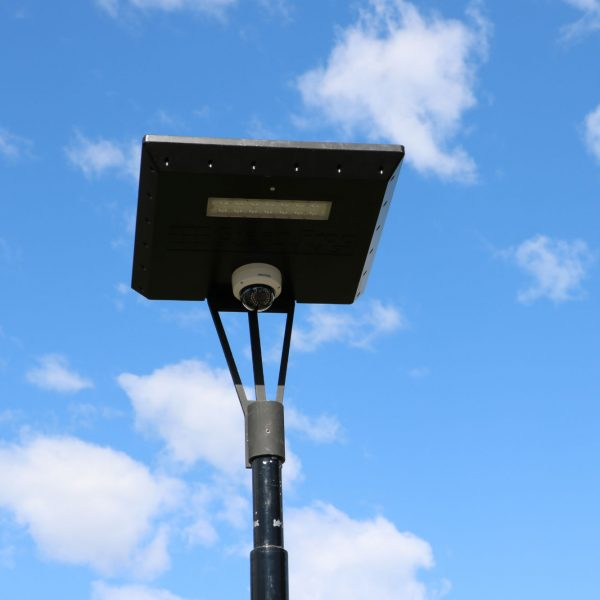 solar security camera on Stealth solar light