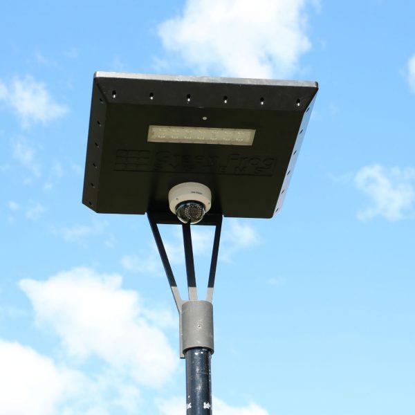 solar camera on Stealth solar light