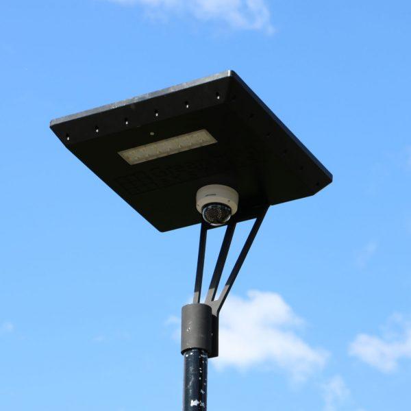solar powered camera on Stealth solar light