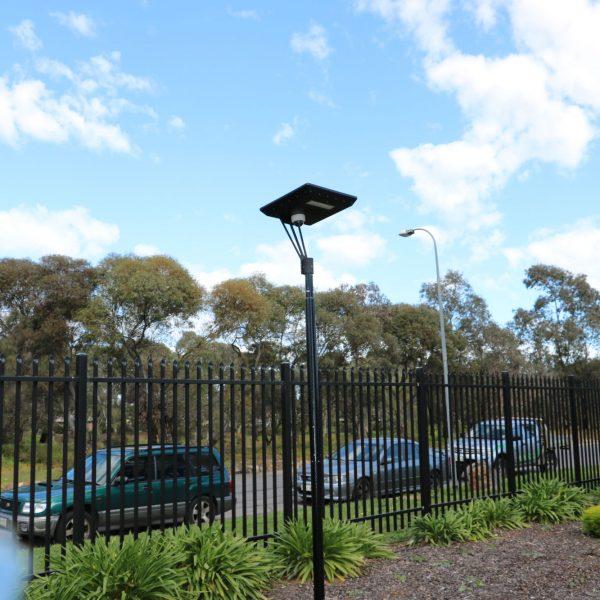 CCTV camera on Stealth solar light