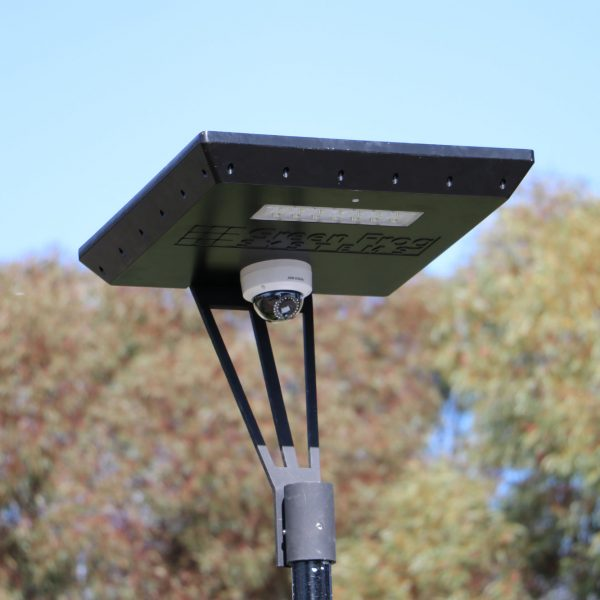 solar CCTV camera on Stealth solar light