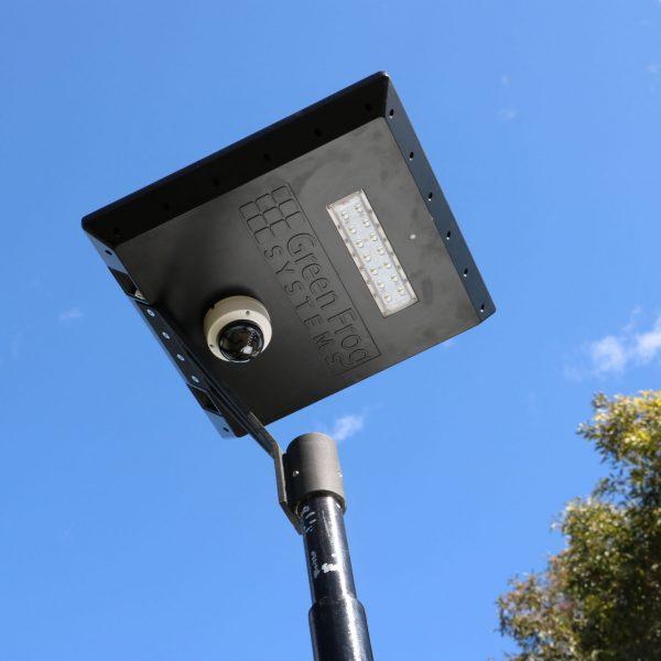 solar powered CCTV security camera on Stealth solar path light