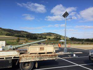 solar LED car park lights