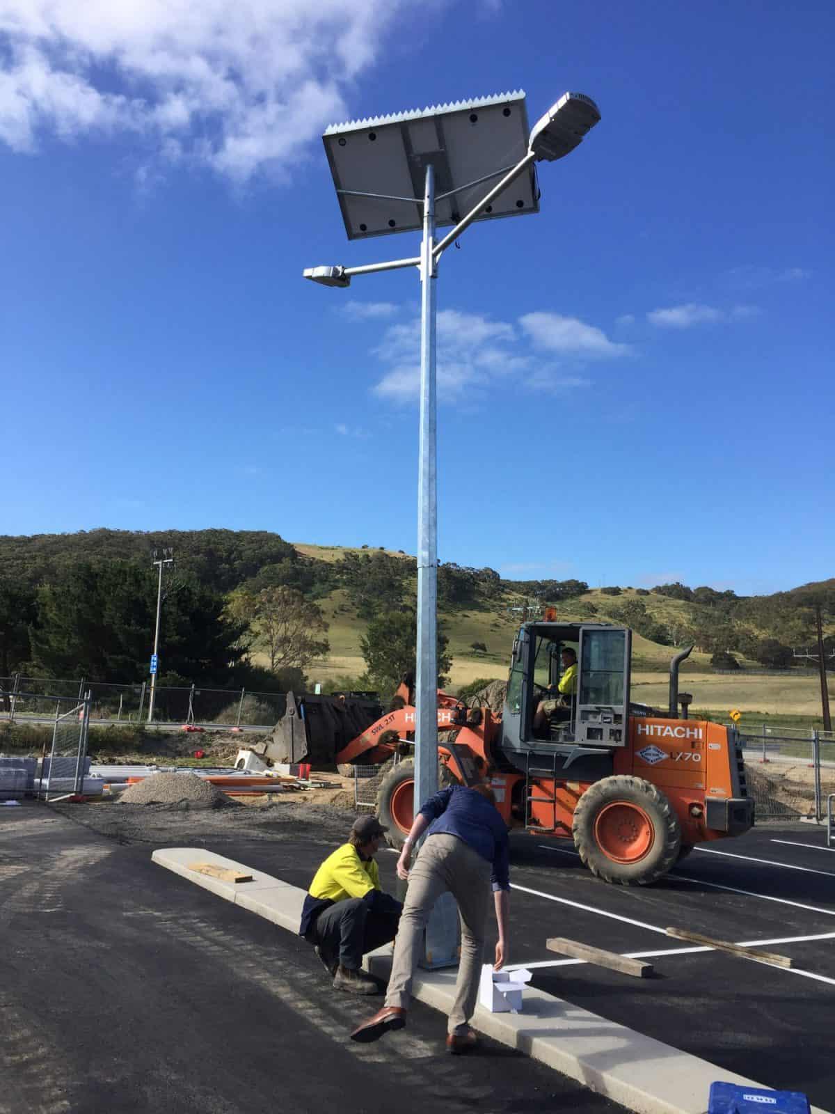 Solar Parking Lot Lighting – IGA Mt Compass