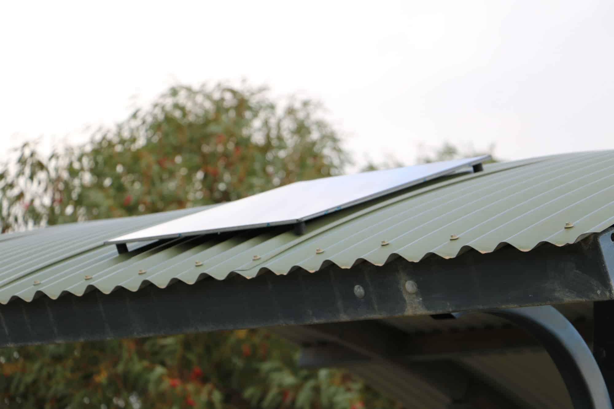 solar shelter light solar panel